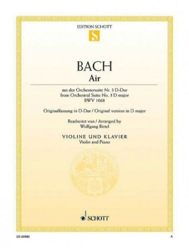 3 in D Major BWV 1068 Arranged for Violi 049019713 Air from Orchestral Suite No