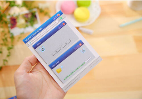 60 Sheets Windows Error Delete Messages Cute Sticky Notes Novelty Sticky Pads
