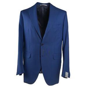 NWT-4995-MAURO-BLASI-Slim-Fit-Handmade-Medium-Blue-Wool-Suit-42-R-Eu-52