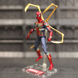 US-7-039-039-Superhero-Iron-Spider-Action-Figure-with-Stand-Toy-Fans-Collection-Gifts