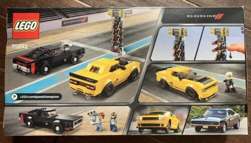 LEGO 75893 Speed Champions 2018 Dodge Challenger SRT Demon /& 1970 Charger R//T