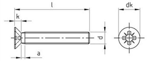 M1.6 X 5 Intagliato svasati MACCHINA VITI INOX A2 DIN 963-10 Pk
