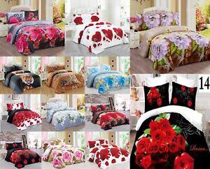Literie-de-luxe-effet-3D-Sets-de-couette-couette-Half-Sets-Floral-125GSM