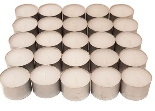 50 Tea Night Lights Candles 8 HOUR LONG BURN Unscented Tealights Nightlights 8HR