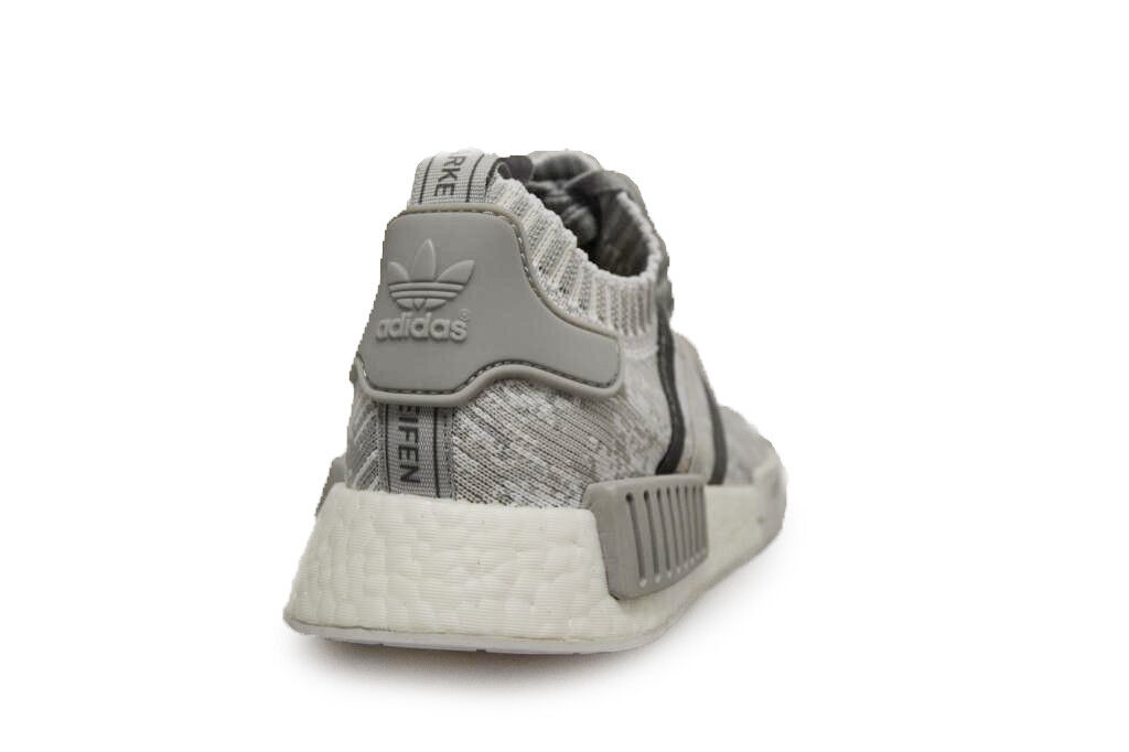 Womens Adidas NMD_R1 Primknit - BY9865 - Grey Grey - Trainers 25261b
