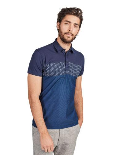 Mish Mash Men/'s Quintin Designer Navy Blue Short Sleeve Polo T Shirt