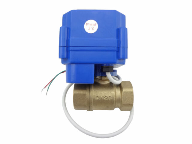 motorized ball valve 12V,DN20(Reduce port)+manual switch,2 way,electrical valve