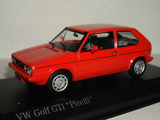 MINICHAMPS VW GOLF GTI 1977 RED 'PIRELLI' 1/43