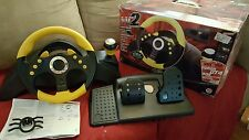MadCatz MC2 Racing Wheel And Pedals Universal Steering PS2 XBox GameCube accudri