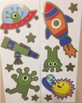 ROCKET DOG wall stickers 51 decals outer space planet stars sky rocketship decor