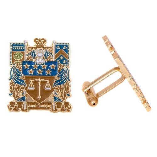 Delta Upsilon Fraternity Colored Gold Cufflinks