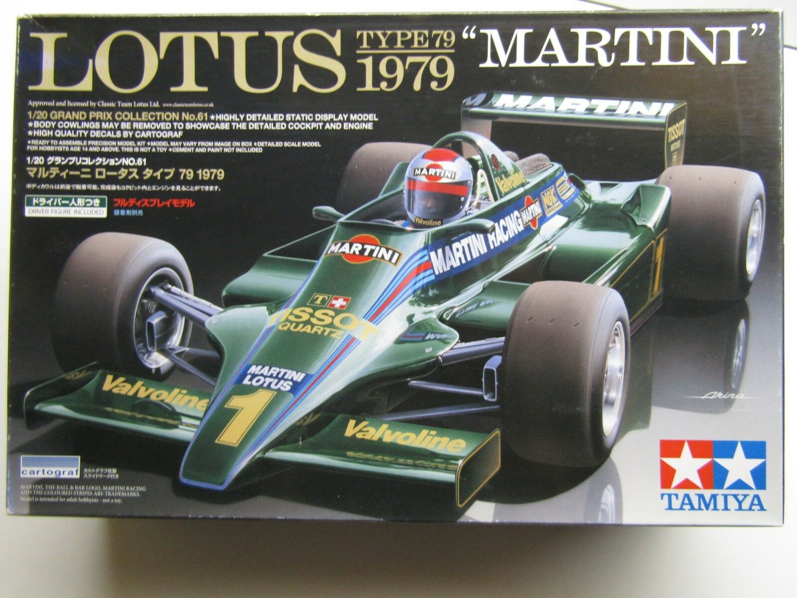 Tamiya 1 20 Scale Lotus 79  Martini  Model Kit New - w - Driver Figure