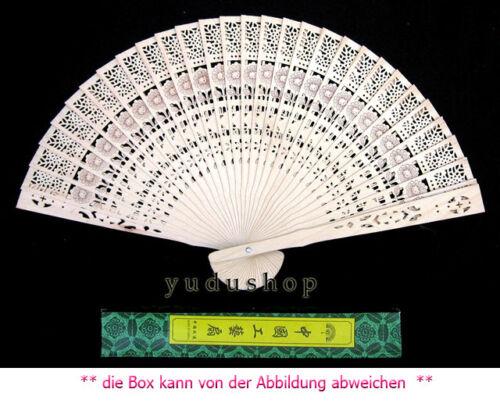 10 x wunderschönen Holzfächer Handfächer Fächer