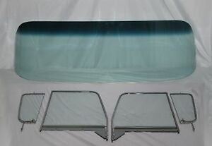 1955-1959-CHEVROLET-CHEVY-PU-WINDSHIELD-ASSEMBLED-VENT-DOOR-GLASS-PICKUP-CLEAR