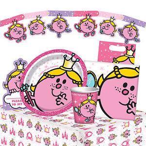 Little-Miss-Princesse-Gamme-de-Fete-D-039-Anniversaire-Vaisselle-Decorations