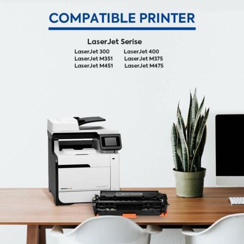 5PK CE410A CE413A Toner For HP 305A Laserjet 300 400 M375nw M451dw M475dw