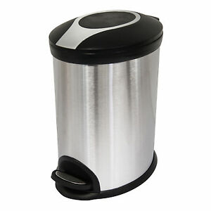Image Is Loading PEDAL BIN STAINLESS STEEL BATHROOM KITCHEN RECYCLE BINS