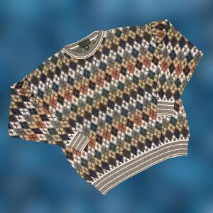 Vintage-90s-Herren-COOGI-Style-Pullover-Biggie-Bill-Cosby-Hip-Hop-Gr-XLT