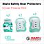 miniature 6 - Roller Skate Safety Gear Protecteurs-croxer taille moyenne-Runner Noir Ou Vert Menthe