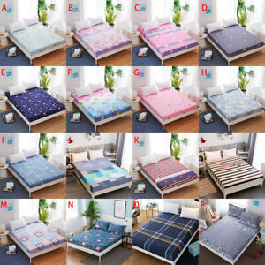 Floral Printed Fitted Sheet Single Double King Cotton Bed Sheet Cover All Sizes