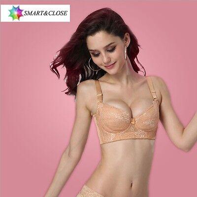 Women's super boost magic Enhancer 3/4 Cup push Up Bra Soft thin Bra Asian Size