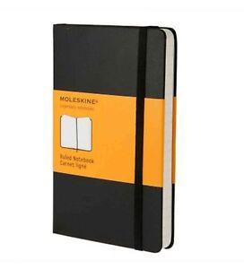 Moleskine-9X14-cm-Hardcover-Notizbuch-192-Seiten-schwarz-liniert