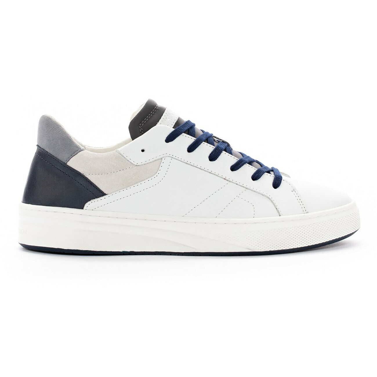 Crime London Men's shoes White bluee Grey 100% Leather Art. Force 11304pp1.10