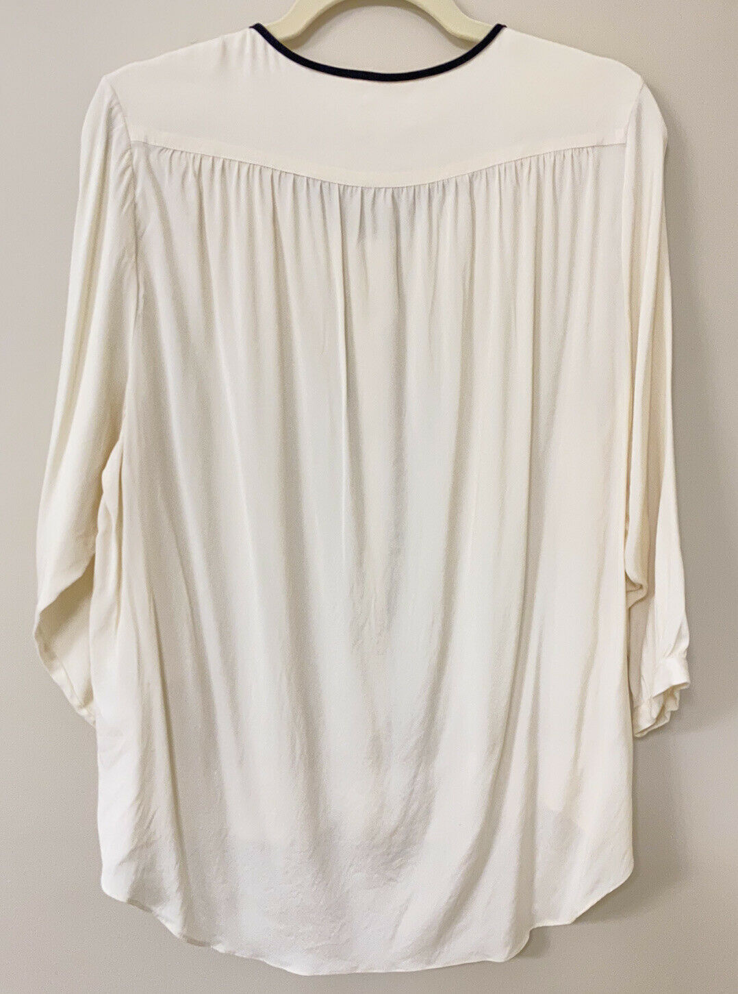 RAG AND BONE SILK BLOUSE - MADE IN USA - WHITE - … - image 2