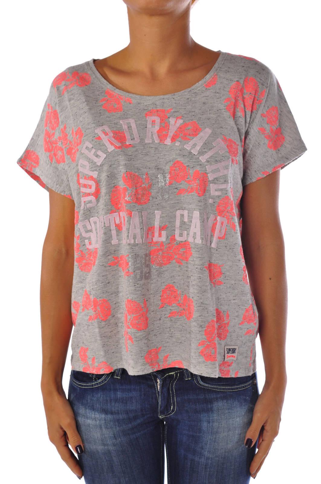 Superdry - Topwear-T-shirts - Woman - grau - 969718C184132