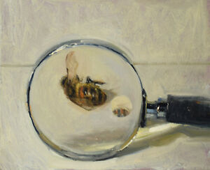 034-Honeybee-and-Magnifying-Glass-2-3-2017-034-by-Duane-Keiser