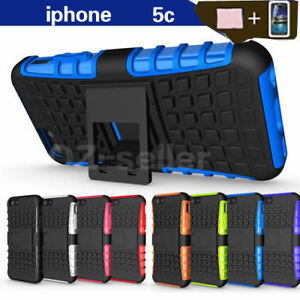 Case-Cover-For-Apple-iPhone-5C-PC-TPU-Shockproof-Hybrid-Kickstand-Soft