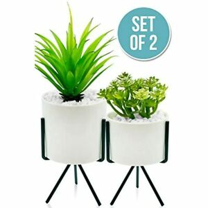 Large Artificial Plants Realistic Looking Fake Potted Textured Decor For Home Ebay