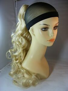 hairpiece clip on color 613 baby blonde 20 long by mona