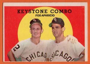 1959 Topps #408 Nellie Fox VG-VGEX+ WRINKLE Luis Aparicio Keystone Combo HOF