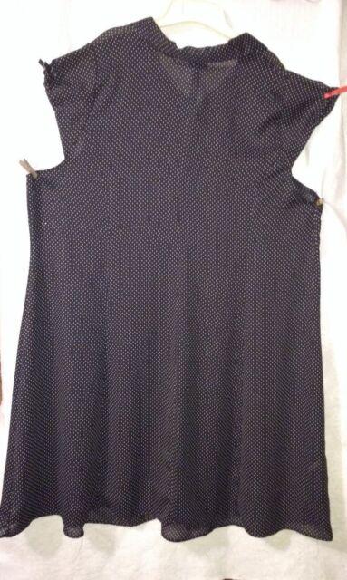 5332330d1 Necessary Objects by Ady Gluck-Frankel Women's Plus Sz 4 Sheer Black Dress  Exc