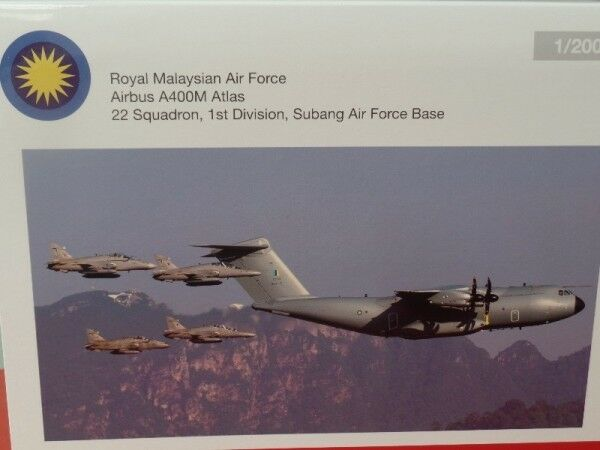 1 200 Herpa Royal malaysian air force airbus a400m atlas 557764