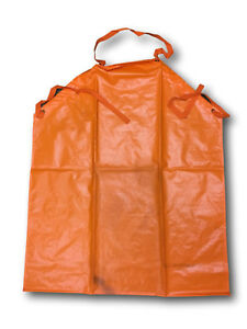 Swedish-Army-Heavy-Pvc-chemical-protective-apron-orange
