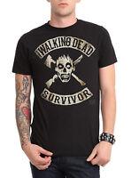 Walking Dead Survivor Black T-shirt Men's/unisex Official Licensed Amc Shirt