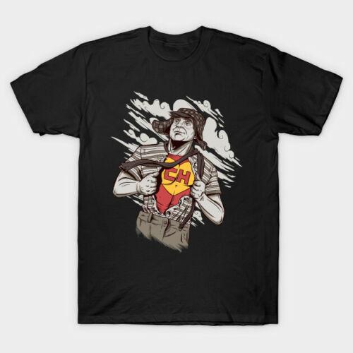 Chespirito Mexico El Chavo Superman Parody Funny Retro Mashup Black T-shirt S6XL