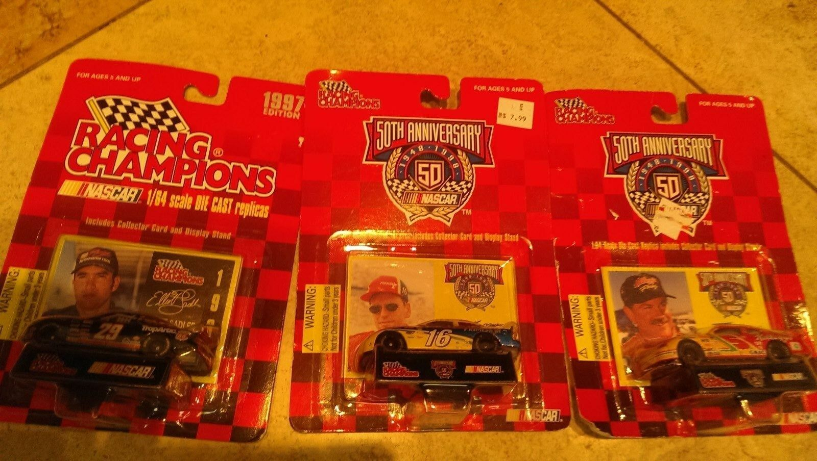 Racing Champions 50th Anniversary Replicas  1 64 diecast &1997 car NEW Lot of 3