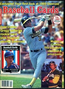 Feb-1989-Baseball-Cards-Magazine-with-6-insert-cards-Gregg-Jefferies-Rookie