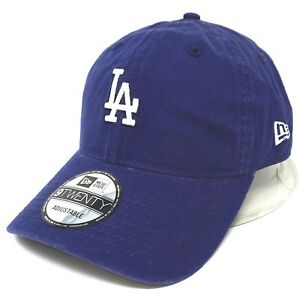 4494b22cacc35 LOS ANGELES DODGERS Dad Cap Hat Licensed NEW ERA 9TWENTY Adult OSFM ...