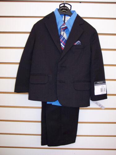 6 Infant /& Boys Nautica $79.50-$89.50 4pc Black Suit Size 12 Months Toddler