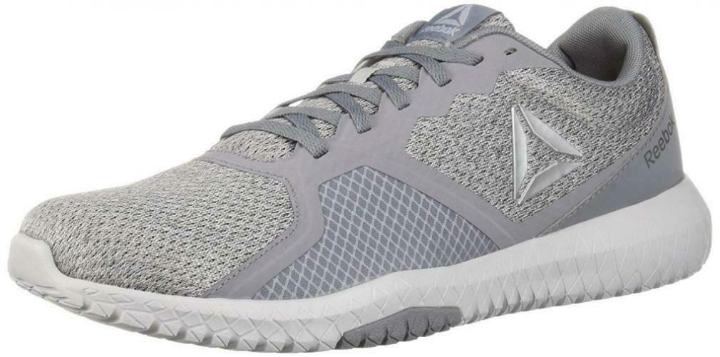 Reebok Men's Flexagon Force Cross Trainer, Mel-Cold Grey Silver Black, 10 M US