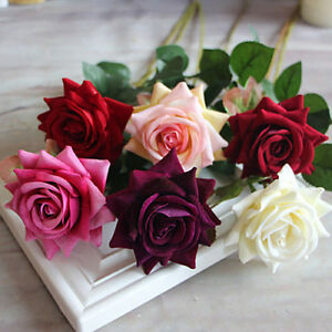 Lovely Rose Silk Flower Leaf Artificial Home Wedding Decor Bridal