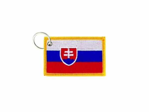 2019 Moda Portachiave Chiavi Chiave Ricamo Toppa Badge Bandiera Slovacchia Slovacco