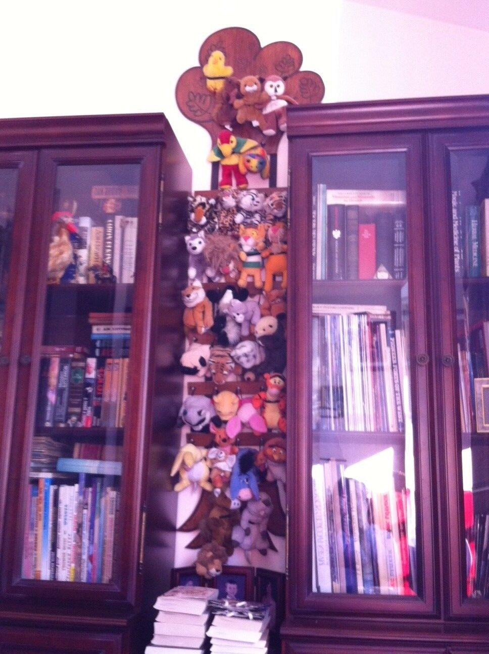Collection of Beanie babies with beanie - babies tree.