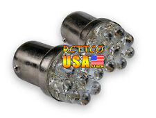 US Ship 2X Car Bulb Lamp White LED Turn Signal Light G18/BA15S 67 5007 9LED 1156