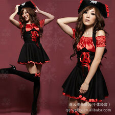 Adult Womens Halloween Fancy Dress Sexy Pirate Costume Wench Devil Witch Girl