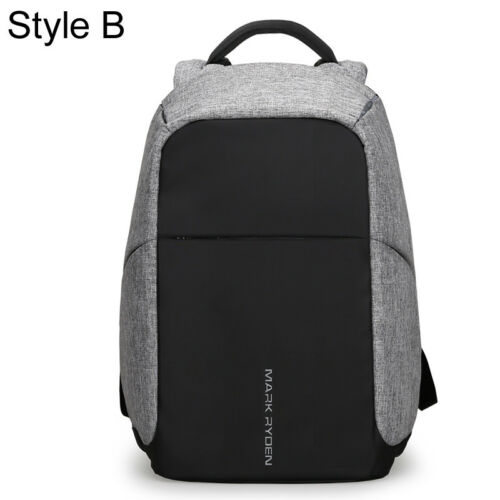 "Men/'s Water Resistant Business Backpack Rucksack Charging Port 15.6/"" Laptop bag"